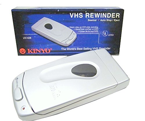 New Kinyo UV-428 VHS Video Cassette Tape Rewinder VCR Auto Stop Soft Eject