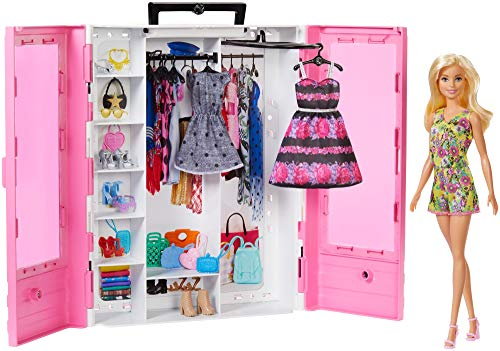 Barbie Fashionistas Ultimate Closet Portable Fashion Toy with Doll,...