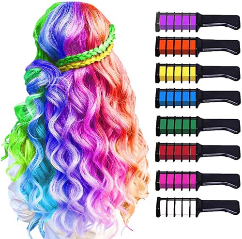 10 Color Hair Chalk for Girls Kids-New Hair Chalk Comb Temporary Washable...