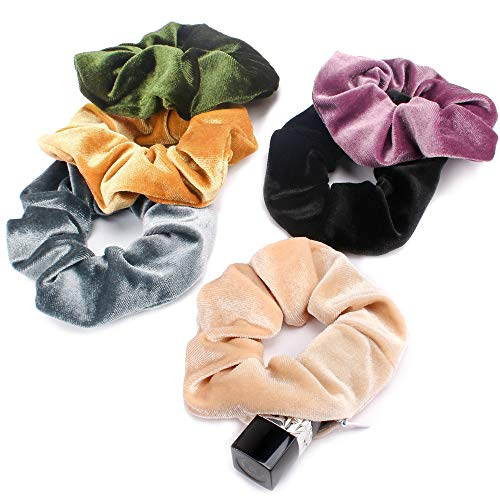 Kicosy 6pcs Scrunchies for Hair Scrunchies Velvet Scrunchies with Pockets...