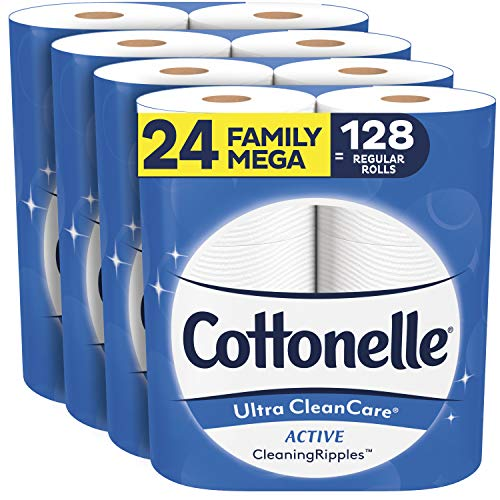 Cottonelle Ultra CleanCare Soft Toilet Paper with Active Cleaning Ripples,...