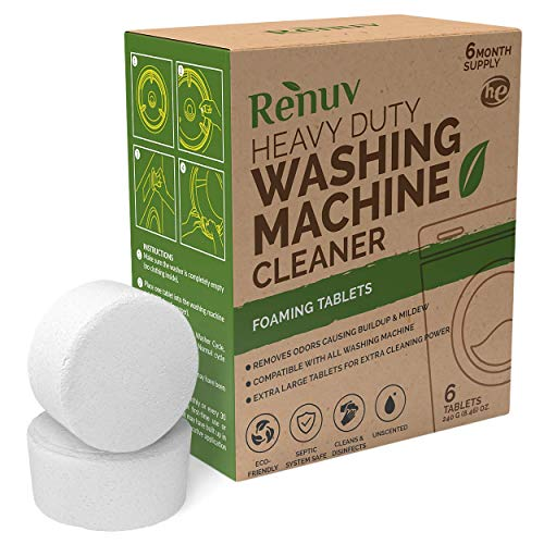 Renuv Washing Machine Cleaner For Front Load, Top Load or HE, Slow...