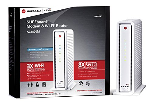 Motorola SURFboard eXtreme Cable Modem & Wi-Fi AC Router with MoCA...