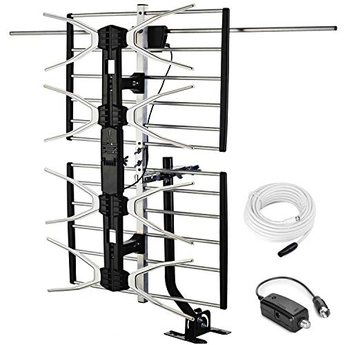 PBD Outdoor Digital HD TV Antenna with High Gain Amplifier 150 Mile Long...