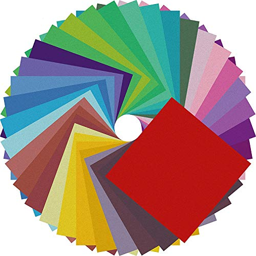 Origami Paper Double Sided Color - 200 Sheets - 20 Colors - 6 Inch Square...