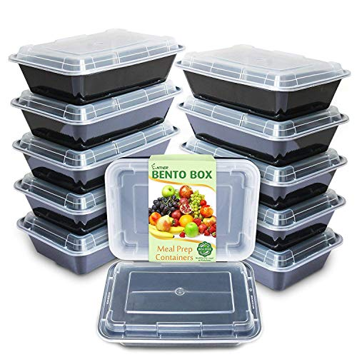 Enther Meal Prep Containers Single Lids Food Storage Bento BPA Free |...