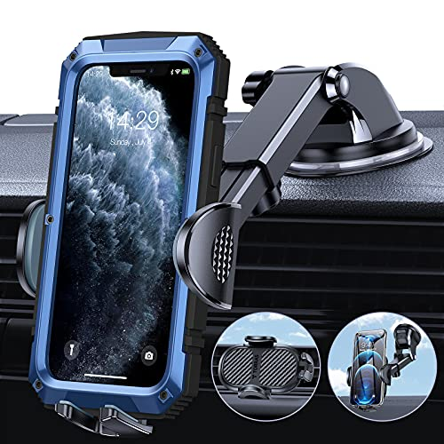 TORRAS Cell Phone Holder for Car [Thick Case & Heavy Phone Friendly] 3 in 1...
