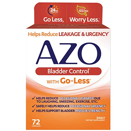 AZO Bladder Control with Go-Less Daily Supplement | Helps Reduce Occasional...
