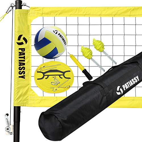 Patiassy Portable Volleyball Net Set Outdoor Volleyball Nets for Backyard...