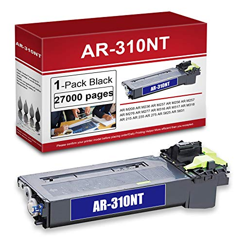 1 Pack Black Compatible AR-310NT Toner Cartridge Replacement for Sharp AR...