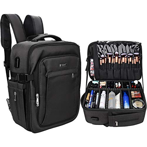 Makeup Backpack, Relavel Professional Makeup Case Extra Large Travel Train...