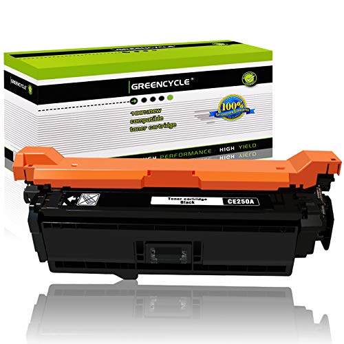 GREENCYCLE 1 Pack 504A CE250A Black Toner Cartridge Replacement Compatible...