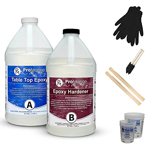 Pro Marine Supplies Crystal Clear Table Top Epoxy Resin & Hardener (2-Part...