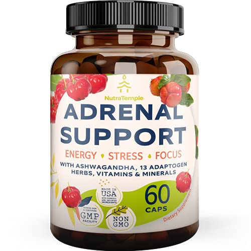 Adrenal Support & Cortisol Manager – Extra Strength Adrenal Fatigue...
