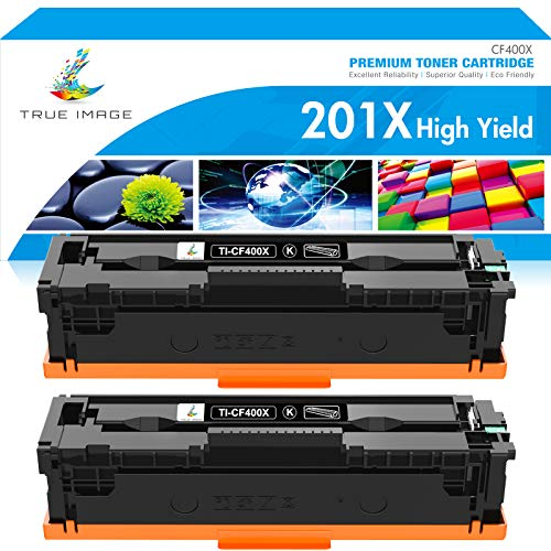 TRUE IMAGE Compatible Toner Cartridge Replacement for HP 201X CF400X 201A...