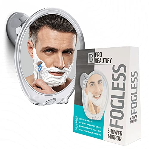 Probeautify Fogless Shower Mirror for Shaving - Strong Suction Cup, Razor...