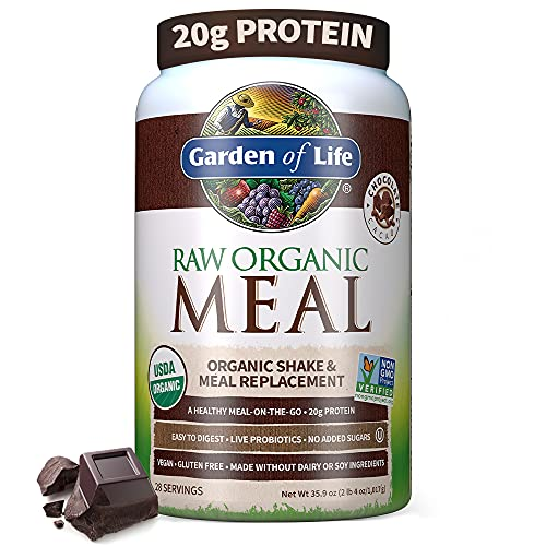 Garden of Life Meal Replacement - Organic Raw Plant Based Protein Powder,...