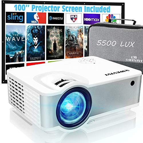 Mini Outdoor Projector, Wevivi Movies Projector 1080P Supported with...