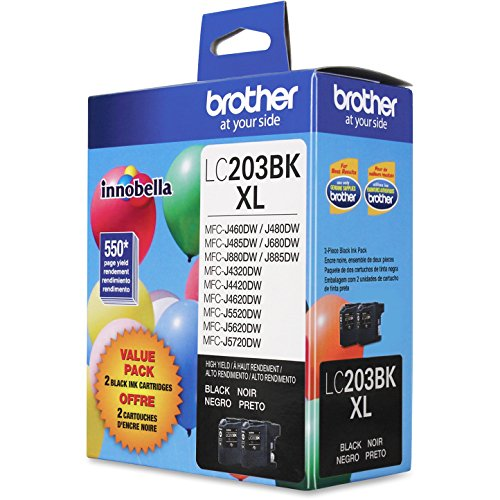 Brother Genuine High Yield Black Ink Cartridges, LC2032PKS, Replacement...