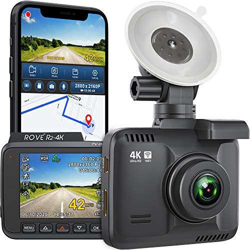 Rove R2-4K Dash Cam Built in WiFi GPS Car Dashboard Camera Recorder with...
