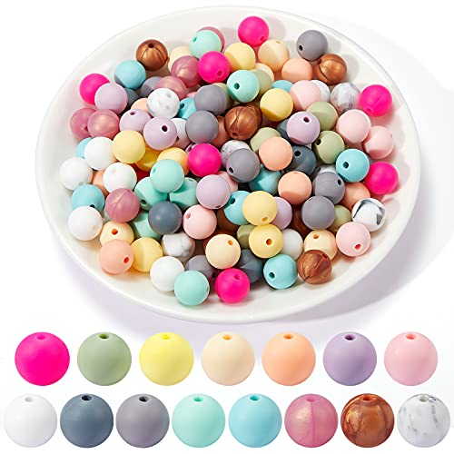 150 Pieces Silicone Beads DIY Jewelry Silicone Beads Accessory Mix Color...