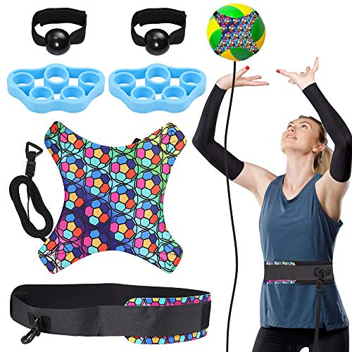 Tanice Volleyball Training Equipment Aid - Solo Practice Trainer for...