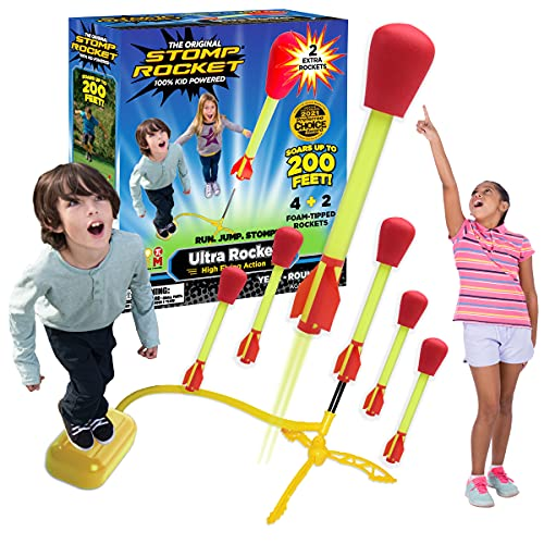 The Original Stomp Rocket Ultra Rocket Launcher with Ultra Refill Pack, 6...