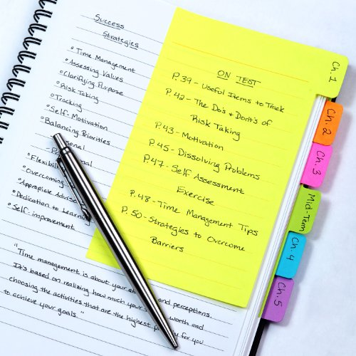 Redi-Tag Divider Sticky Notes, Tabbed Self-Stick Lined Note Pad, 60 Ruled...