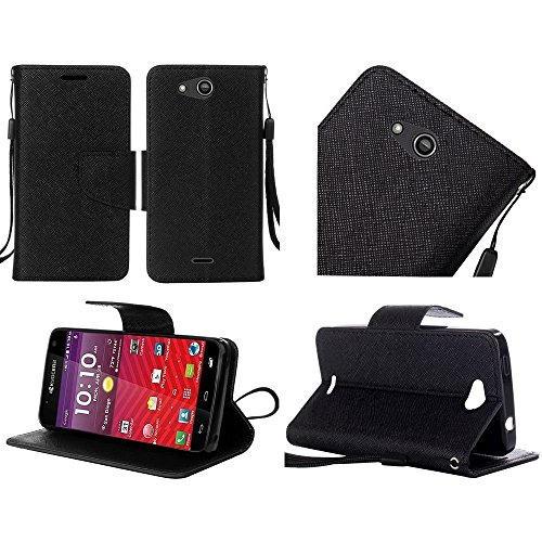 Kyocera Hydro Air C6745 Case, Luckiefind PU Leather Flip Wallet Credit Card...