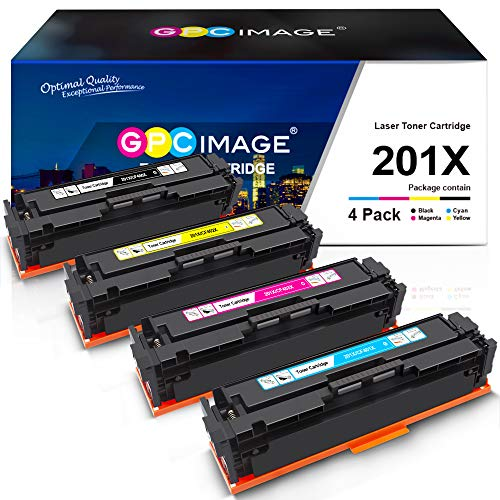 GPC Image Compatible Toner Cartridge Replacement for HP 201X 201A CF400X...