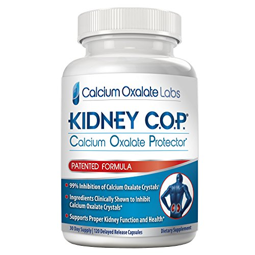 Kidney COP Calcium Oxalate Protector 120 Capsules, Patented Kidney Support...