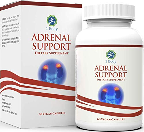 Adrenal Support Ashwagandha Capsules - Cortisol Manager - A Supplement...