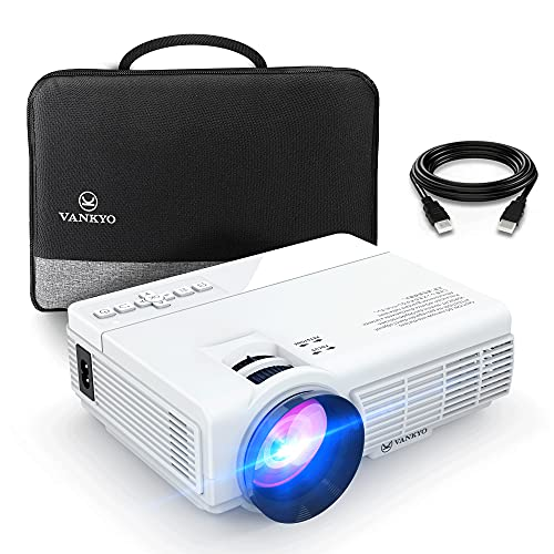 Mini Projector (100' Screen Included), iVANKYO 2021 Upgraded Supports 1080P...