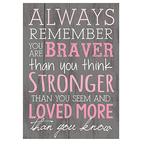 P. Graham Dunn Always Remember You are Braver Than You Think 4x6 Tabletop...