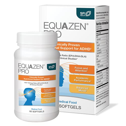 EQUAZEN PRO Fish Oil for Kids - Clinically Tested to Improve Focus,...