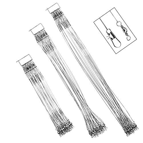 72Pcs Fishing Stainless Steel Wire Leader - Wire Leaders for Fishing,...