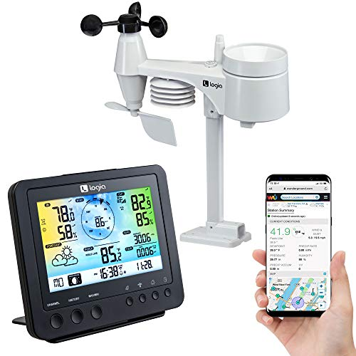Logia 5-in-1 Wi-Fi Weather Station | Indoor/Outdoor Remote Monitoring...