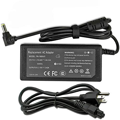 AC Adapter Power Cord for Toshiba Satellite C855-S5206 C855-S5231...