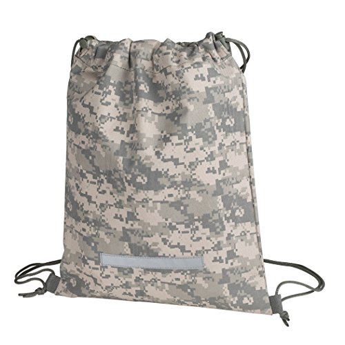 Heavy Duty Drawstring Backpack Digital Camouflage Army Navy Military Sack...