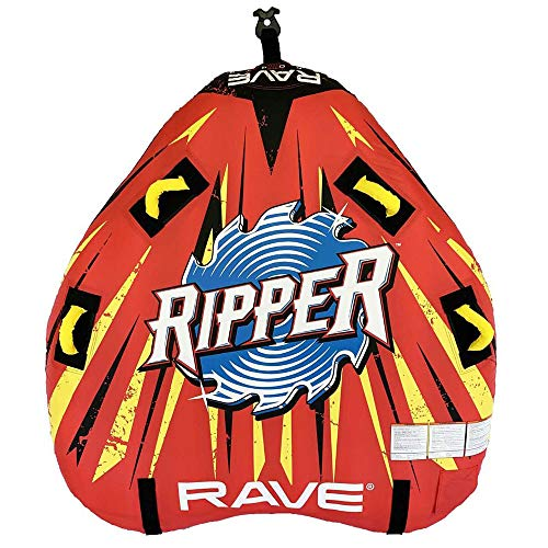 RAVE Sports 02918-RV-SMU Ripper 2 Rider Nylon Inflatable Towable Float with...