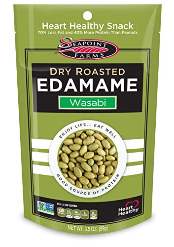 Seapoint Farms Wasabi Dry Roasted Edamame, Healthy Gluten-Free Snacks,...