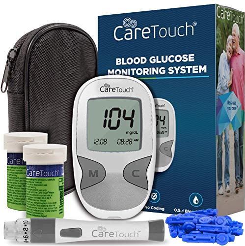 Care Touch Diabetes Testing Kit – Care Touch Blood Glucose Meter, 100...
