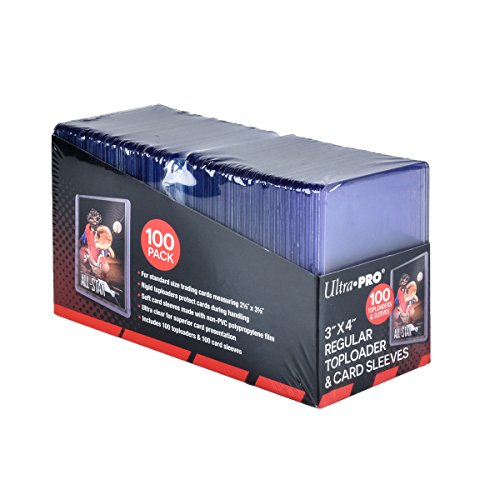 Ultra PRO 3' x 4' Toploaders and Clear Sleeves for Collectible Trading...