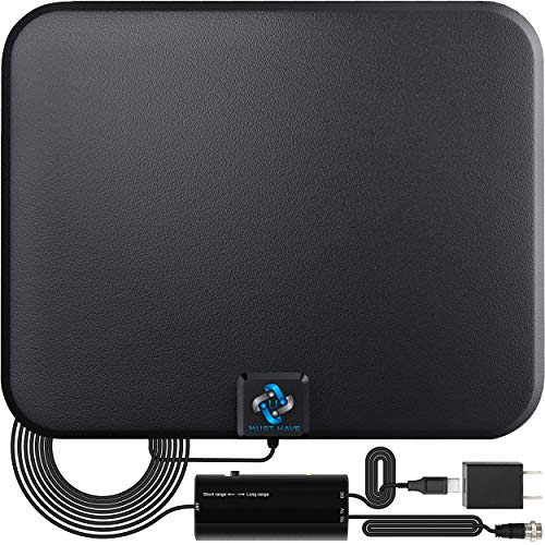 U MUST HAVE Amplified HD Digital TV Antenna Long 250+ Miles Range - Support...