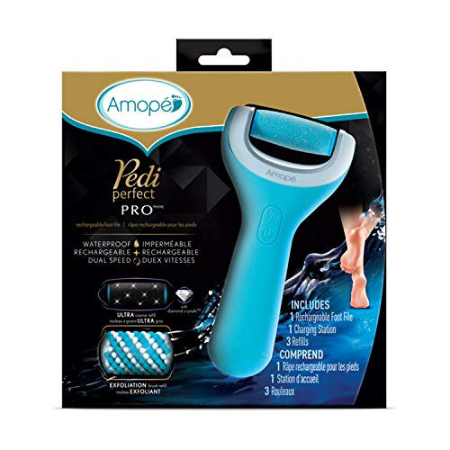 Amope Pedi Perfect Wet & Dry Foot File, Callous Remover for Feet, Hard and...