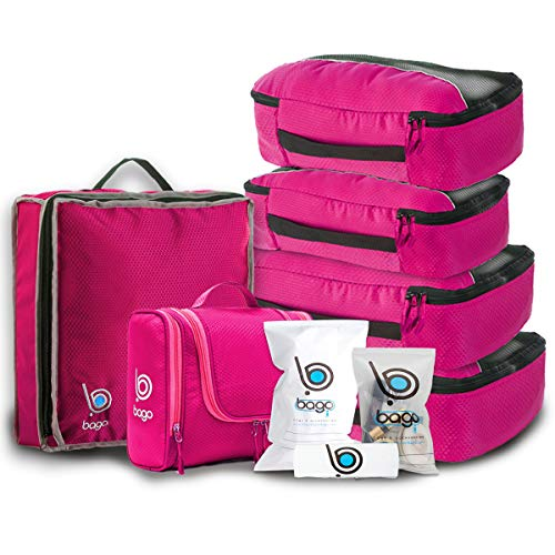 Travel Organizer Set for Luggage & Suitcase - Packing Cubes, Toiletry, Shoe...