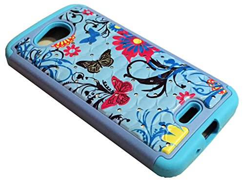for Kyocera Hydro Air C6745 Hybrid Sparkle Bling Protector Phone Cover Case...