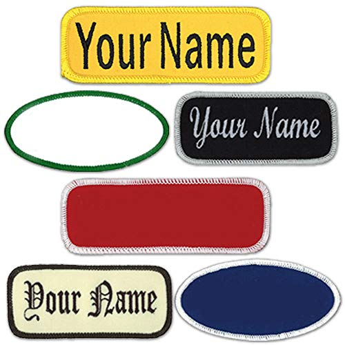 Name Patches Uniform or Work Shirt, Personalized, Embroidered New Styles...