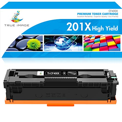 TRUE IMAGE Compatible Toner Cartridge Replacement for HP 201A CF400A 201X...