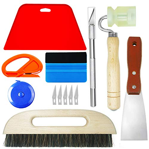 CARTINTS Wallpaper Smoothing Tools Wallpaper Hanging Kit for Home Office...